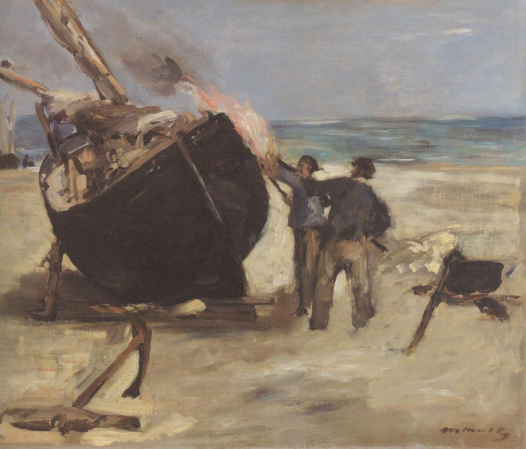 エドゥアール・マネタールを塗られるボート