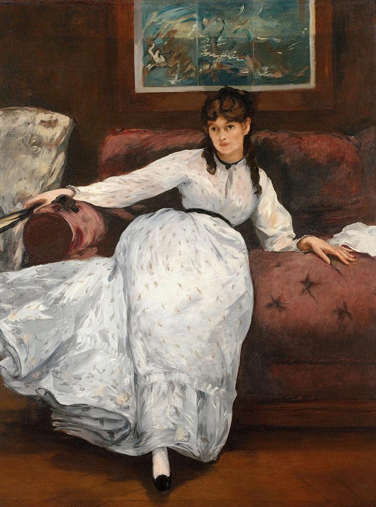 エドゥアール・マネ休息(ベルト・モリゾの肖像)