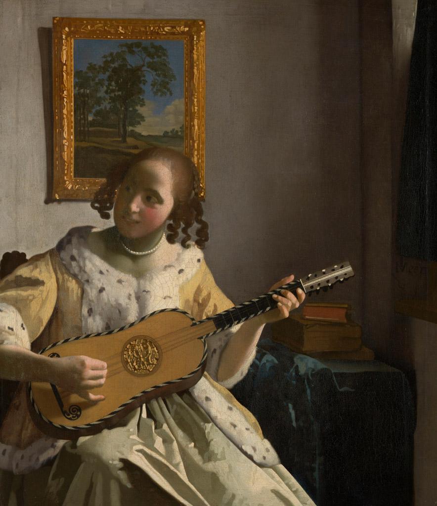 ヨハネス・フェルメールギターを弾く女