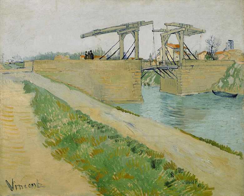 アルルの跳ね橋 (アルルのラングロワ橋と運河沿いの道)
