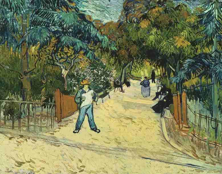 アルルの公園の入口