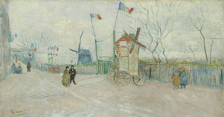 モンマルトルの街の光景:風車