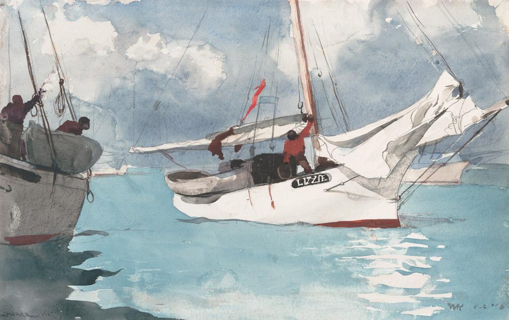 ウィンスロー・ホーマーキーウェストの釣り船