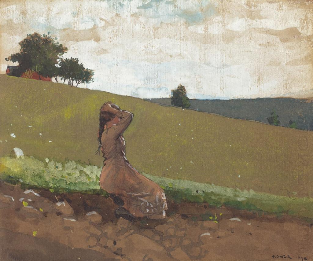 ウィンスロー・ホーマー緑の丘
