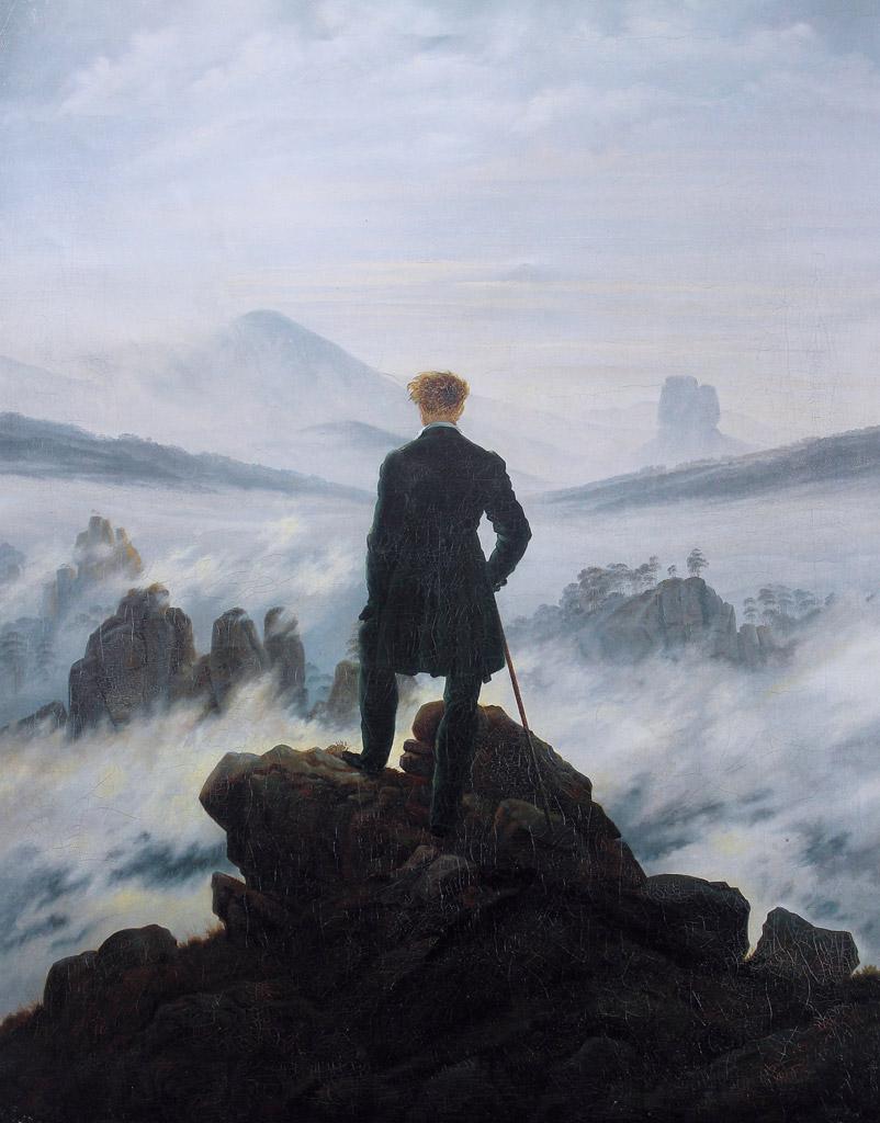 カスパー・ダーヴィト・フリードリヒ霧の海を見おろす散歩者