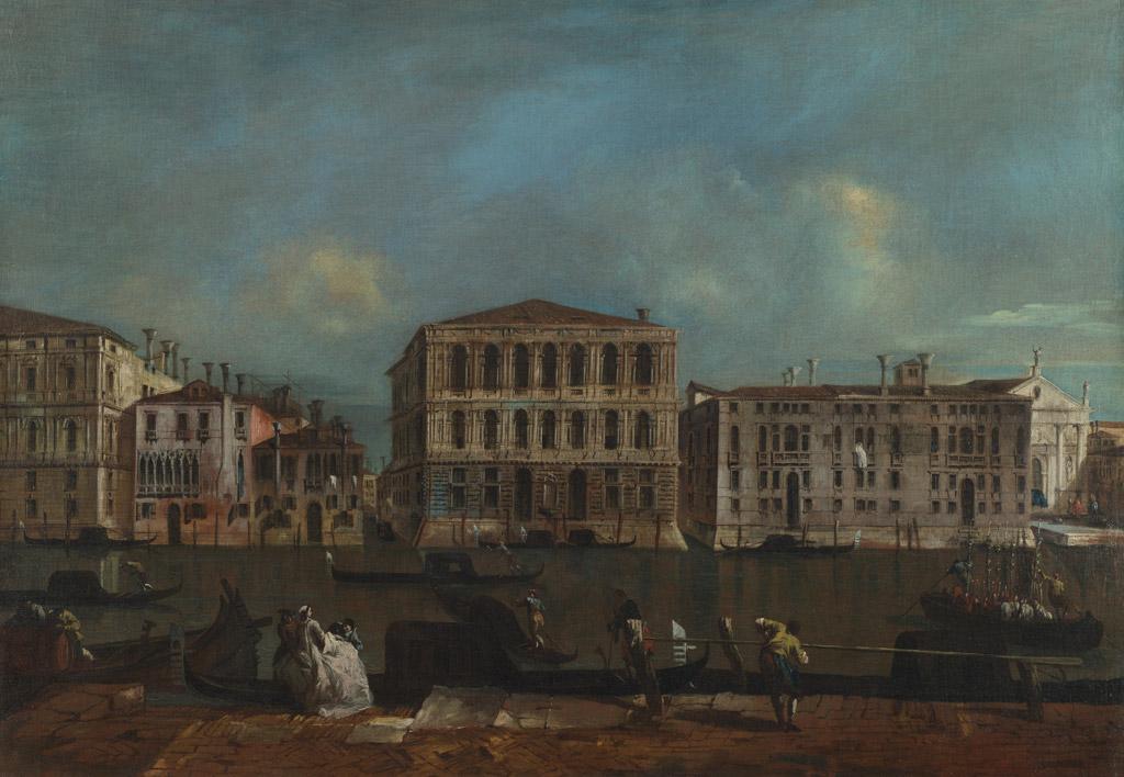 フランチェスコ・グアルディヴェネツィア、大運河とペーザロ宮殿
