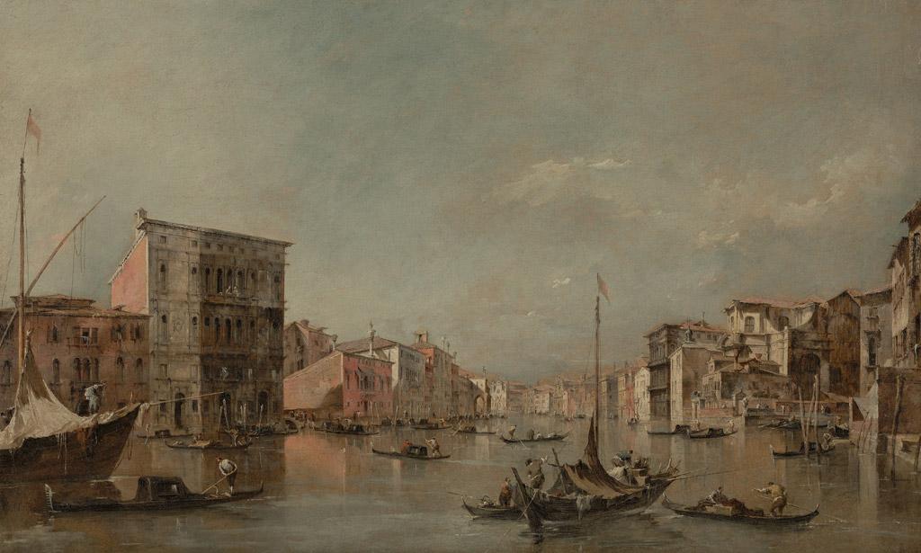 フランチェスコ・グアルディヴェネツィアの大運河とベンボ宮