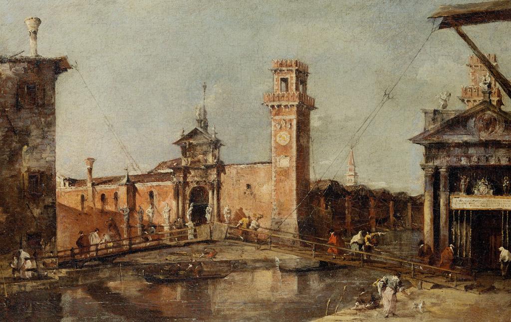 フランチェスコ・グアルディヴェネツィアの国立造船所の入り口