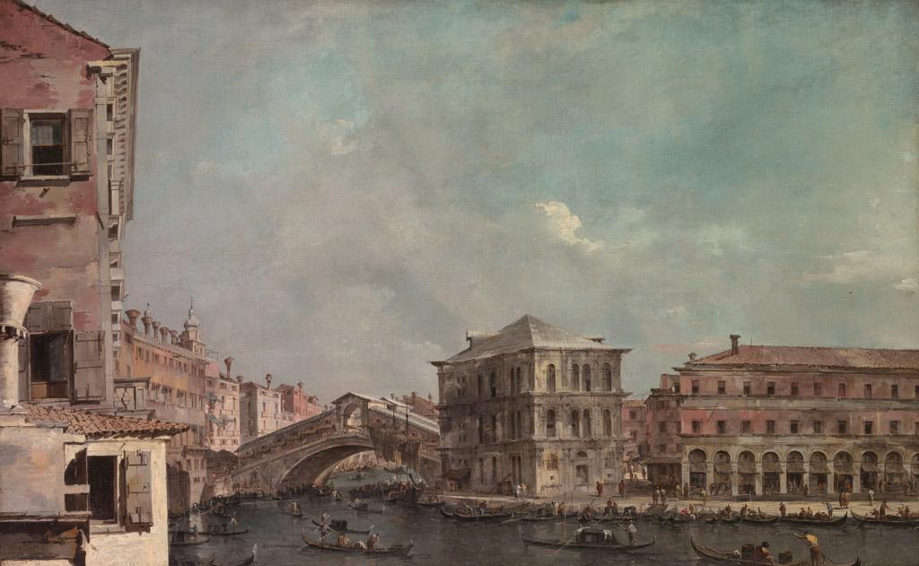 フランチェスコ・グアルディ大運河に架かるリアルト橋
