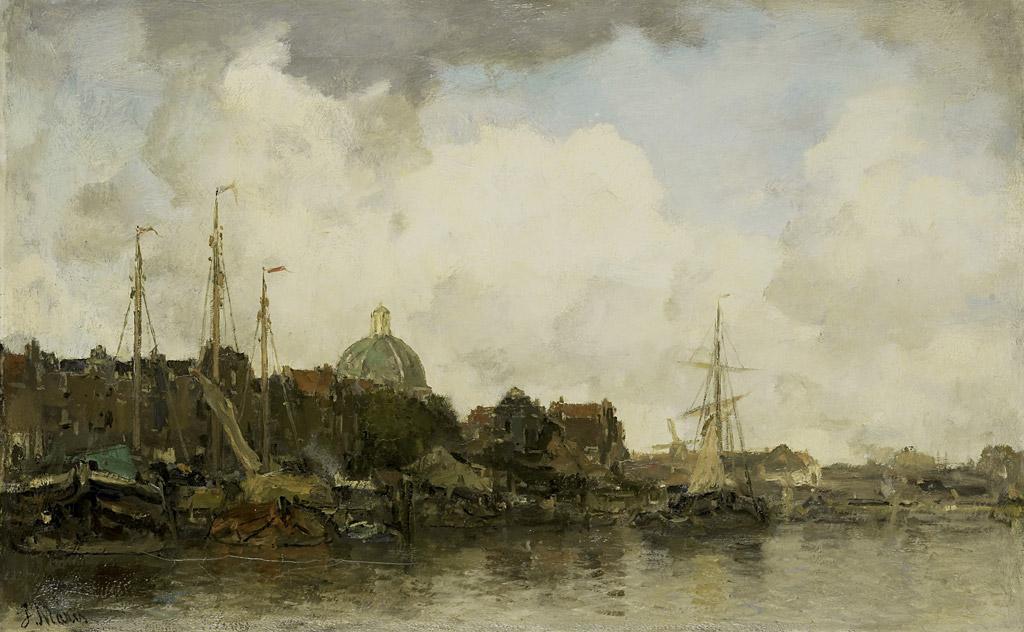ヤコブ・マリスドーム形の教会と街の風景