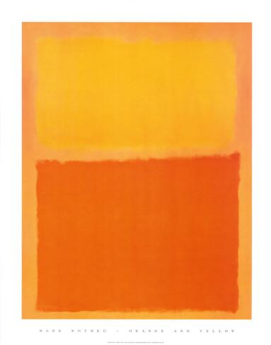 オレンジと黄色