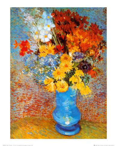 花瓶の雛菊とアネモネ 1887年