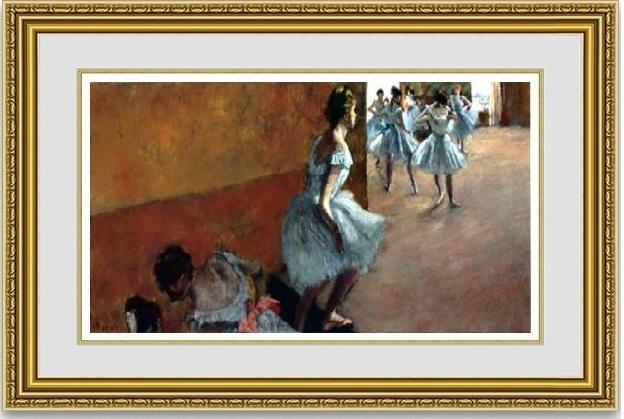 エドガー・ドガ 「階段を上がる踊り子」 額縁付き