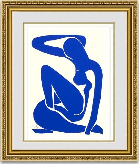 マティス 「Blue Nude 1」 額縁付き