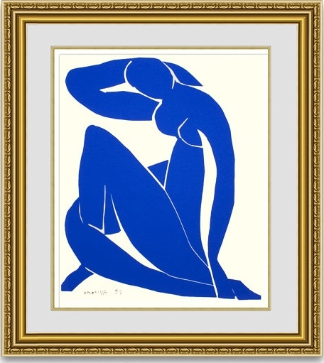 マティス 「Blue Nude 2」 額縁付き