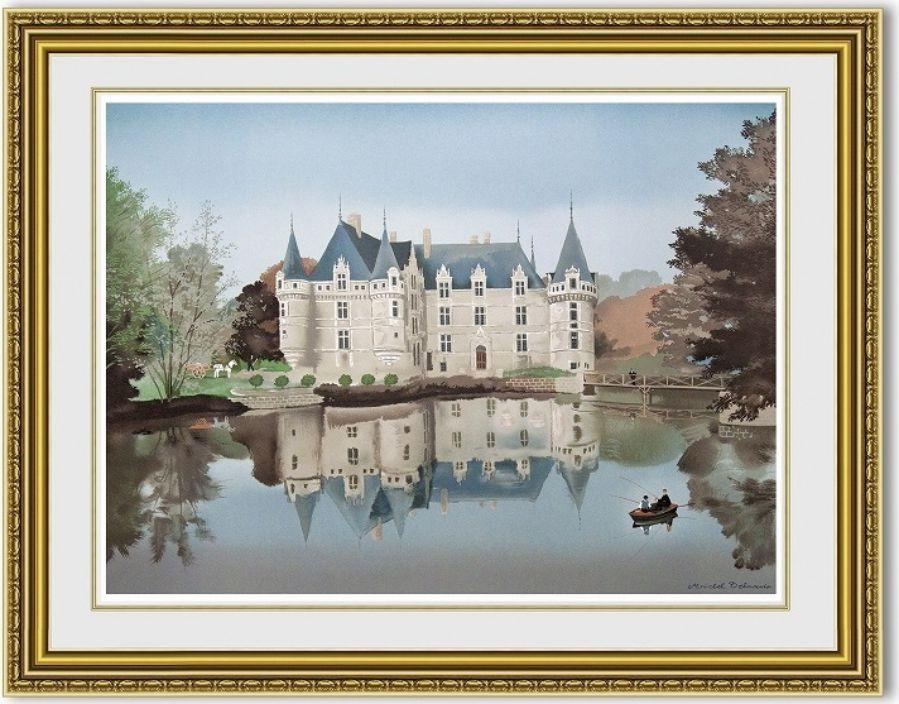 ミッシェルドラクロワ「Azay le Rideau」 額縁付き