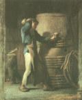 ジャン=フランソワ・ミレー樽作りの職人