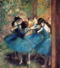 エドガー・ドガ青い衣装の踊り子