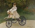 クロード・モネ馬の三輪車に乗ったジャン・モネ
