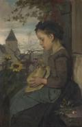 ヤコブ・マリス家の外で座る少女