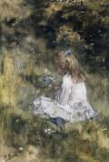 ヤコブ・マリス草花と画家の娘