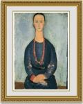 モディリアーニ「La Femme au Collier de Corail」 額縁付き