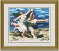 ピカソ 「海辺をかける二人の女」 額縁付き