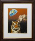 【特価展示品】ウィリアム・シンメル「タイガー」 面金加工付 額縁付き【現品限り】