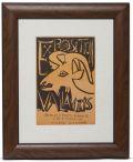 【ヴィンテージアート ムルロー工房】パブロピカソ1952 Exposition Vallauris Poster Goat Art  【フルオーダー額縁付】