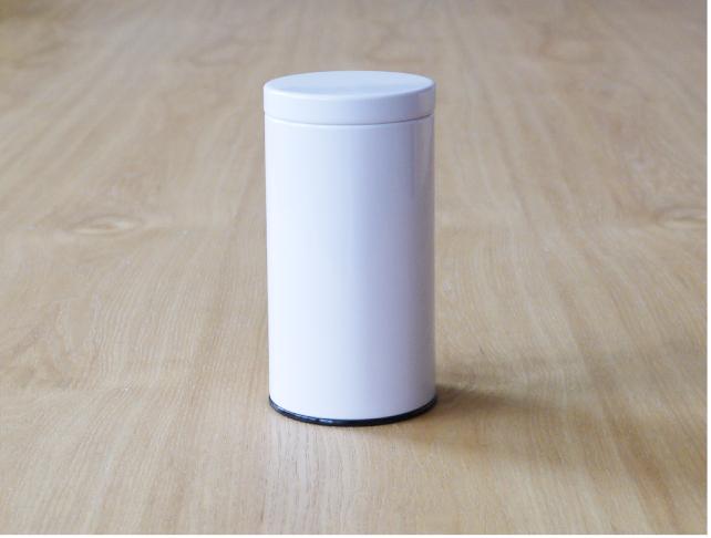 大切な茶葉を上手に保存【茶筒 ホワイト無地100g~150g用】日本製