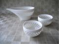 蛍手陶器 透かし 白磁 湯冷まし 湯呑