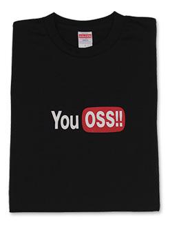 Tシャツ  YouOSS (黒) 画像