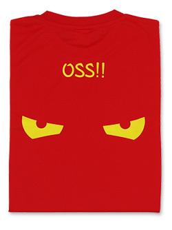 Tシャツ OSS!! アイコンタクト (赤) 画像