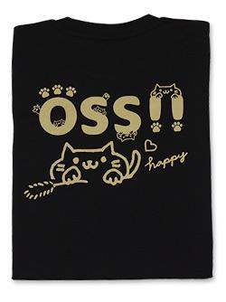 Tシャツ OSS!!キャット (黒) 画像