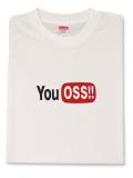 Tシャツ YouOSS 白