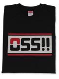 Tシャツ OSS!! スポーティ 黒