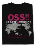 Tシャツ OSS!! KARATE WORLD 黒+ピンクラメ