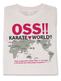 Tシャツ OSS!! KARATE WORLD 白+ピンクラメ