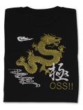Tシャツ OSS!! 龍&極 黒