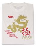 Tシャツ OSS!! 龍&極 白