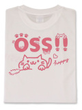 Tシャツ OSS!!キャット 白