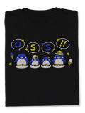 Tシャツ OSS!!仲良しペンギン 黒
