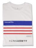 Tシャツ 長袖 OSS!! ニース 白
