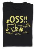 Tシャツ OSS!! にゃんだって 黒