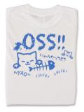 Tシャツ OSS!! にゃんだって 白