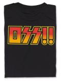 Tシャツ OSS!! ロックバンド 黒