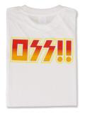 Tシャツ OSS!! ロックバンド 白