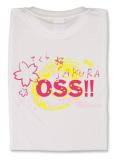 Tシャツ OSS!! 桜・SAKURA 白