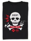 Tシャツ OSS!! どくろ 黒
