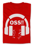 Tシャツ OSS!! Music 赤